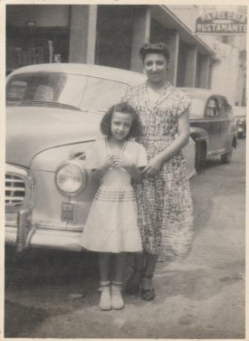 Ida Cesana and her daughter Elsa Yoder circa 1950 in Venezuela